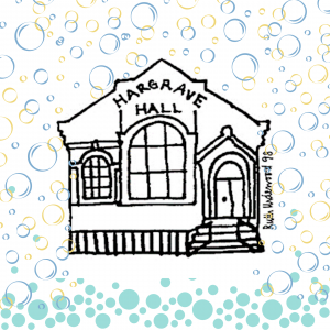 Hargrave Hall surrounded by bubbles
